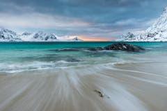 Der Haukland Strand auf den Lofoten in Norwegen. (Bild: Cyrill Schlauri)