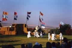 Zeremonie während des Erntedankfestes in Bet Alfa. (Bild: Ueli Eisenhut)