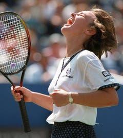 Wo Martina Hingis auch auftaucht, kann sie jubeln und bringt ihren Gegnerinnen das Verlieren bei - hier beim US Open 1996. (Bild: Keystone)
