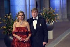 Kronprinz Willem-Alexander mit seiner Ehefrau Maxima. (Bild: Keystone)