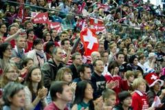 Die Zuschauer belohnten die Schweizerinnen für ihre tolle Leistung mit Szenenapplaus. (Bild: Urs Bucher)