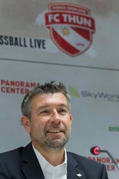 Im November 2012 wurde Urs Fischer als neuer Trainer des FC Thun vorgestellt. (Bild: Keystone)