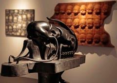Eine Skulptur von Giger bei der Ars Electronica 2013 in Linz. (Bild: Keystone)