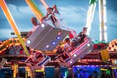 Romanshorn TG - Sommernachtsfest im Hafen von Romanshorn. Lunapark. (Bild: Andrea Stalder)