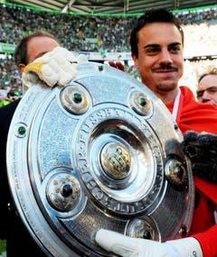Ein Höhepunkt in Diego Benaglios Karriere: der Meistertitel mit Wolfsburg im Jahr 2009. (Bild: Keystone)