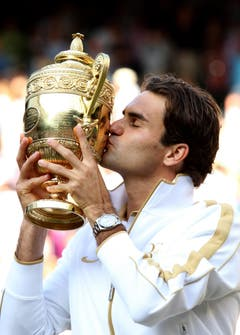2009 Wimbledon gegen Andy Roddick (USA) 5:7, 7:6, 7:6, 3:6, 16:14 (Bild: Hugo Philpott / Keystone)