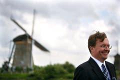 Prinz Johan Friso startet am 11. Mai 2007 die Spendenaktion «Windmill looks for friends» anlässlich des Jahres der Windmühlen. (Bild: Keystone)