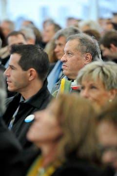 Der frischgebackene Nationalrat Christian Lohr im Publikum. (Bild: Reto Martin)
