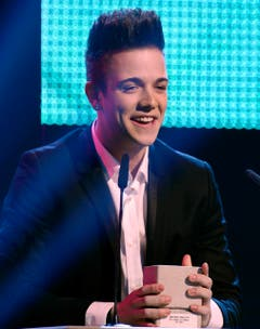 Luca Hänni gewinnt einen Swiss Music Award in der Kategorie Best Breaking Act. (Bild: Keystone)