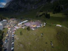 Der Gossauer Skirennfahrer Ralph Weber war am Schwingfest auf der Schwägalp als Drohnenfotograf im Einsatz. (Bild: Ralph Weber)