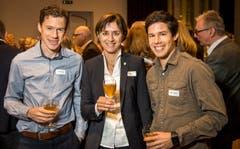 Daniel Hubmann, Monika Knill und Martin Hubmann. (Bild: Reto Martin)