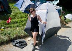 Zügeln mit dem ganzen Zelt. (Bild: Coralie Wenger)