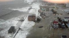 Überfluteter Küstenstreifen bei Atlantic City. (Bild: Keystone)