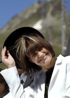 Elegant mit Hut im Sommer 2003 auf der Corviglia oberhalb von St.Moritz. (Bild: Keystone)