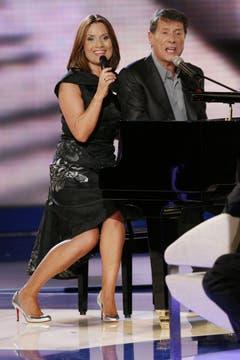 ZDF-Gala zum 75. Geburtstag des Entertainers: Udo Jürgens mit seiner Tochter Jenny. (Bild: Keystone)