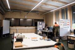 Der Raum des kantonalen Führungsstabes. (Bild: Thi My Lien Nguyen)