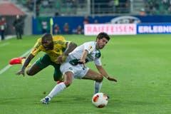 Fussball Europa League FC St. Gallen - FC Kuban Krasnodar Matias Vitkieviez vom FC St.Gallen gegen CissŽ (Bild: Michel Canonica)
