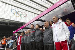 Nationalhymne vor dem Spiel. (Bild: Keystone)