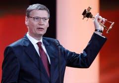 2011 wird Jauch mit der Goldenen Kamera ausgezeichnet. (Bild: Keystone)