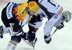 Jaroslav Bednar, links, und Esa Pirmes. (Bild: Keystone)
