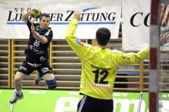 Flügelspieler Thomas Zimmermann erzielte gegen Kadetten drei Tore. (Bild: Pius Amrein/Neue LZ)