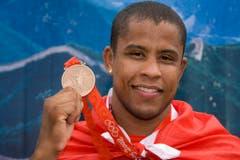 Sergei Aschwanden, Gold im Judo bis 90 Kilogramm, Peking 2008. (Bild: Keystone / Alessandro della Bella)