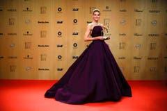 Sie machte damit Model Heidi Klum Konkurrenz, die in der Fashion ausgezeichnet wurde. (Bild: AP / Markus Schreiber)