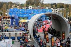 Zieleinlauf beim Verkershaus. (Bild: swiss-image.ch/Photo Andy Mettler)