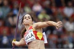 Lässt die Muskeln beim Speerwerfen spielen: Die Spanierin Mercedes Chilla (Bild: Keystone)