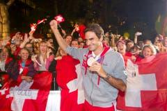 Roger Federer, Silber im Tennis Einzel, 2012 in London. (Bild: Keystone / Peter Klaunzer)
