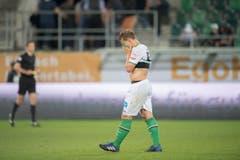 Ist das nur der Schweiss oder wischt er sich hier sogar Tränen der Niederlage aus dem Gesicht: Jesper van der Werff. (Bild: Urs Bucher)