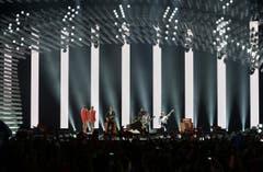 Dänemark: Die Band Anti Social Media performt den Song 'The Way You Are'. (Bild: Kerstin Joensson)
