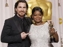 Christian Bale zusammen mit Octavia Spencer. (Bild: Keystone/EPA)