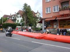 Hochwasserschutz an der Aarstrasse. (Bild: Jonas Schärer)