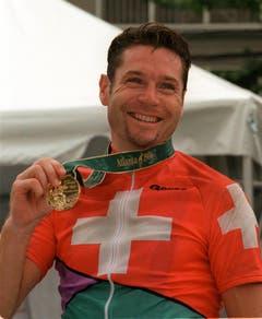Pascal Richard, Gold im Strassenrennen, Atlanta 1996. (Bild: AP / Lionel Cironneau)