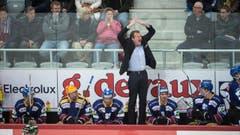 Biels Head Coach Kevin Schläpfer bei einem Triumpf-Moment. (Bild: Keystone / Marcel Bieri)