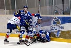 Eishockey in der Trainingshalle in Zug, EVZ Academy gegen GCK Lions im Bild´Cederic Maurer. 10. September 2016 (Neue ZZ/Werner Schelbert) (Bild: Werner Schelbert / Neue ZZ)