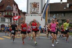 Der Hellebardenlauf mit Start und Ziel in Sempach. (Bild: Philipp Schmidli)