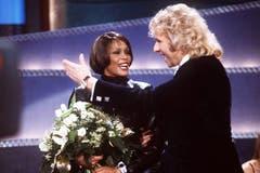 Mit Thomas Gottschalk 1999 in einer Sendung von «Wetten, dass..?». (Bild: Imago)