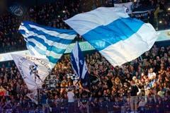 Mit 7015 Zuschauern war auch das dritte Heimspiel in dieser Playoff-Serie ausverkauft. (Bild: Christian H. Hildebrand / Neue ZZ)