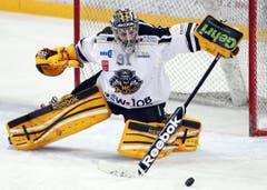 Torhüter Benjamin Conz vom HC Lugano zeigte eine starke Leistung. (Bild: Keystone)