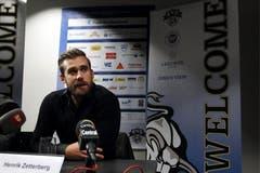 Am Samstagabend wird Zetterberg bei einer Pressekonferenz vorgestellt. (Bild: Keystone)