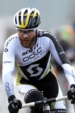 Der Schweizer Florian Vogel kann sich den dritten Platz sichern. (Bild: URS FLUEELER)