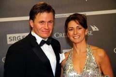 Skiverbands-Präsident Urs Lehmann mit seiner Ehefrau Conny Kissling. (Bild: André Häfliger/Neue LZ)