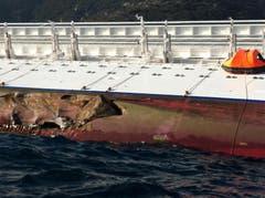 Felsstücke ragen durch das Schiff hindurch. (Bild: Keystone)