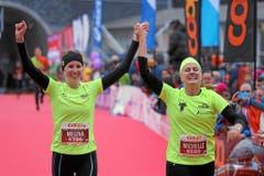 Jubel bei diesen Läuferinnen. (Bild: swiss-image.ch/Photo Andy Mettler)