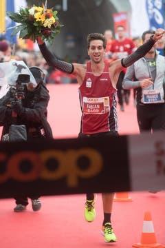 Sieger Marathon Männer: Fabian Anrig. (Bild: Boris Bürgisser (LZ))