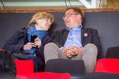 Auch Esther Friedli und Tonni Brunner kamen an den CSIO. (Bild: Urs Bucher)