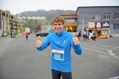 Beni Erni, Gunzwil: «Hier kann ich etwas für meine Fitness machen. Der Marathon ist eine willkommene Abwechslung und ein Treffpunkt. Hier sieht man viele bekannte Gesichter.» (Bild: Michael Wyss)