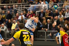 Peter Schramm vom HCK erzielte drei Treffer. (Bild: Roger Grütter / Neue LZ)